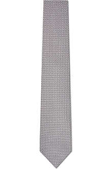 EMMETT LONDON Grenadine silk tie