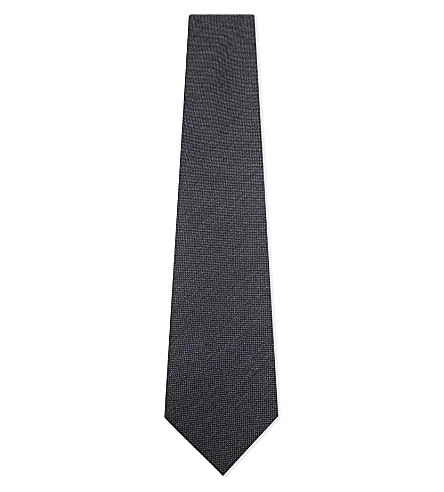 TOM FORD Textured wool tie (Airforce