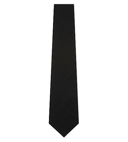 TOM FORD Stripe textured wool tie (Navy