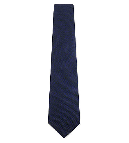 TOM FORD Woven silk tie (Bright+blue