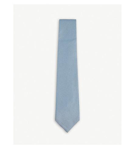 TOM FORD Textured silk tie (Blue