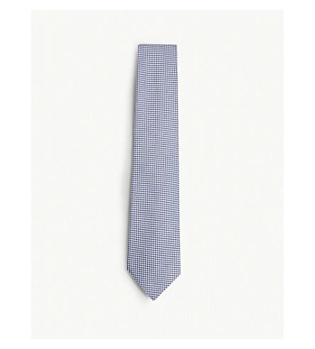TOM FORD Textured circle silk tie (Blue