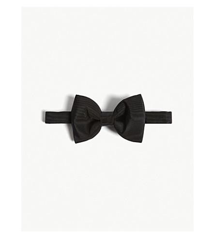 TOM FORD Grosgrain silk-satin bow tie (Black