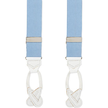 ALBERT THURSTON LTD Linen braces (Blue