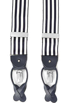 ALBERT THURSTON LTD Barathea equal-stripe braces