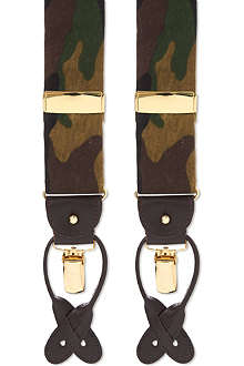 ALBERT THURSTON LTD Camouflage-print braces
