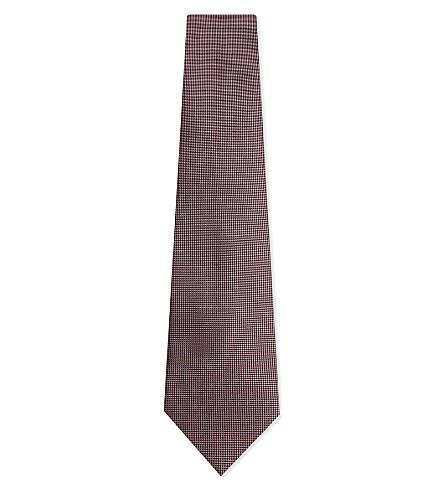 ERMENEGILDO ZEGNA Textured silk tie (Pink