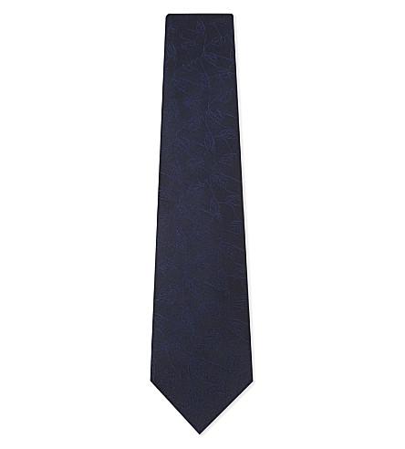 ERMENEGILDO ZEGNA Polka-dot textured silk tie (Pink