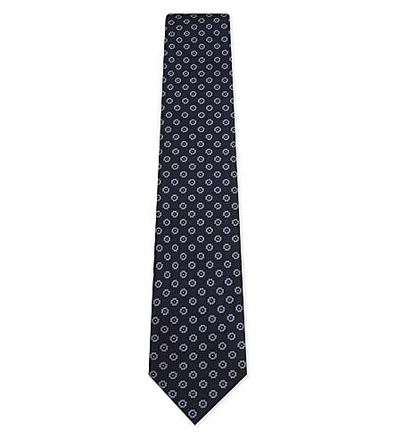 ERMENEGILDO ZEGNA Floral medallion silk tie (Blle
