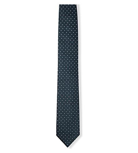 ERMENEGILDO ZEGNA Micro-floral silk tie (Green