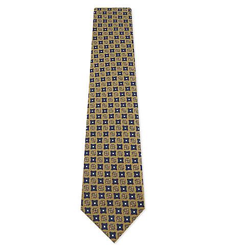 ERMENEGILDO ZEGNA Silk medallion tie (Gold