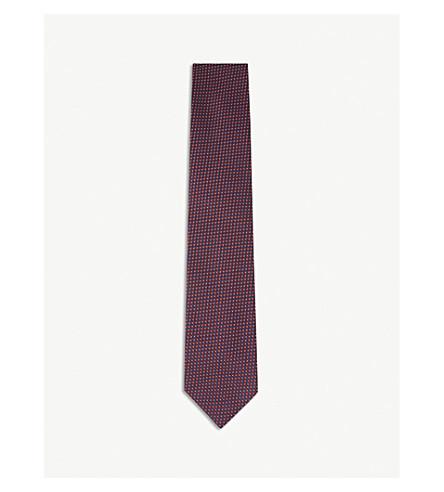 ERMENEGILDO ZEGNA Micro-dot silk tie (Red