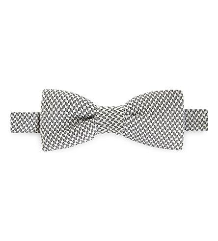 ERMENEGILDO ZEGNA Jacquard silk bow tie (Silver