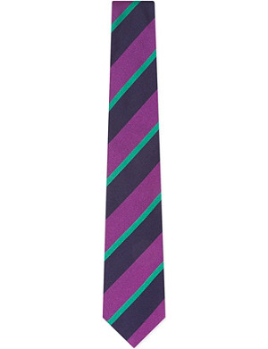 TURNBULL & ASSER Diagonal patterned colourful silk tie