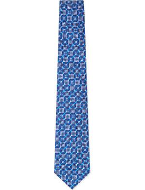 TURNBULL & ASSER Circle cluster silk tie