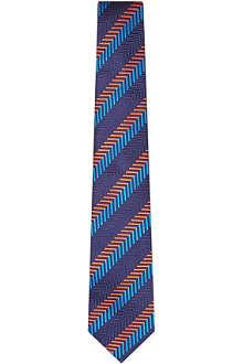 TURNBULL & ASSER Chevron stripe silk tie