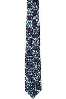 TURNBULL & ASSER Patterned silk tie