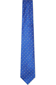 TURNBULL & ASSER Polka dot silk tie