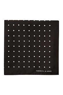 TURNBULL & ASSER Polka-dot pocket square