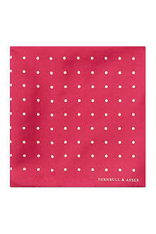 TURNBULL & ASSER Polka-dot pocket square