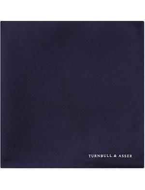 TURNBULL & ASSER Bordered pocket square