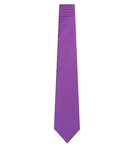TURNBULL & ASSER 实心斜纹真丝领带 (紫色