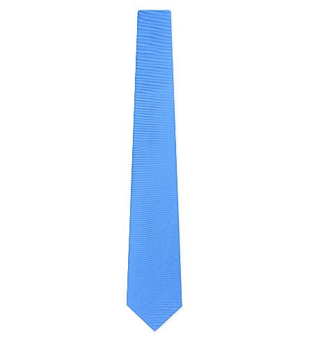 TURNBULL & ASSER Solid twill silk tie (Royal