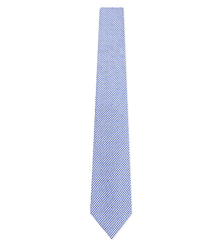 TURNBULL & ASSER Puppytooth silk tie (Blue