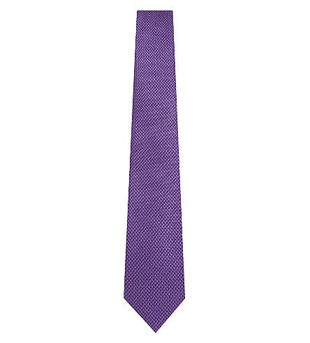TURNBULL & ASSER Puppytooth silk tie (Purple