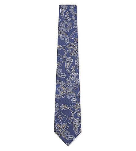 ETON Large paisley silk tie (Blue