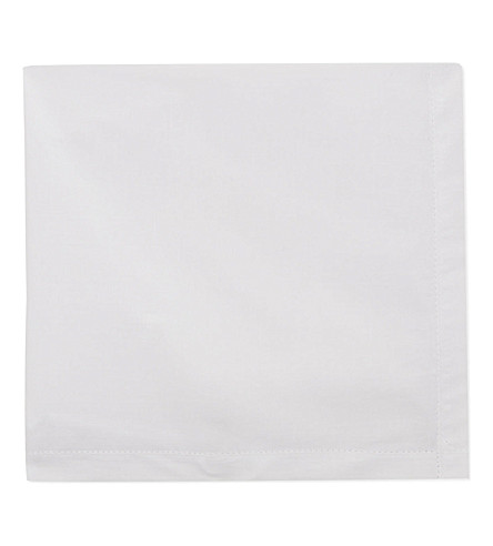 SAMUEL LAMONT Loose pocket square (White