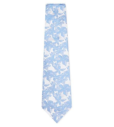 DUCHAMP Felix floral silk tie (Blue