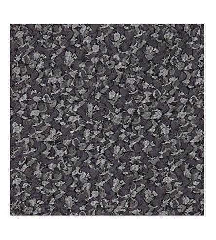 DUCHAMP Floral silk pocket square (Grey