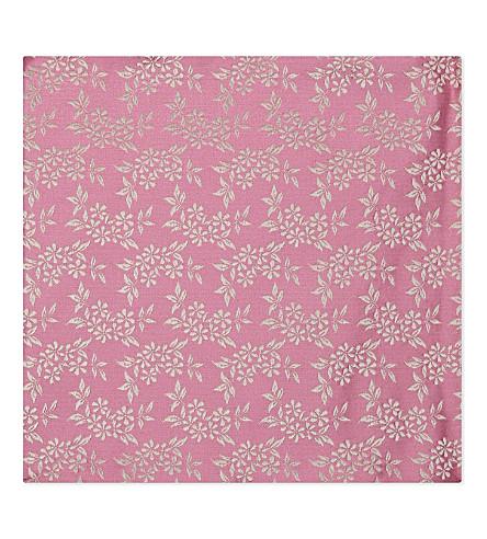 DUCHAMP Floral silk pocket square (Pink
