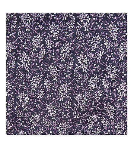 DUCHAMP Ditsy floral silk pocket square (Purple