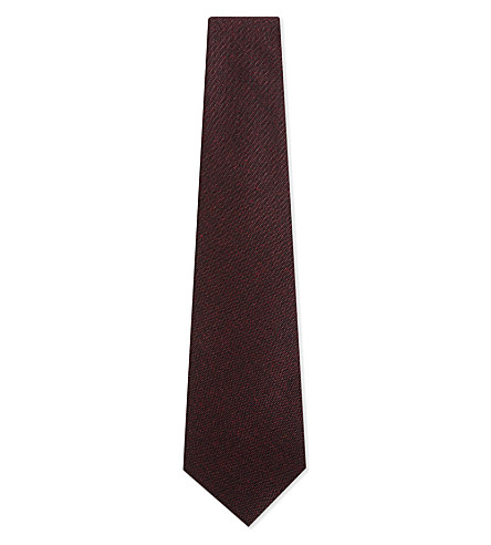 BIGI CRAVATTE Donegal wool tie (Bordeaux