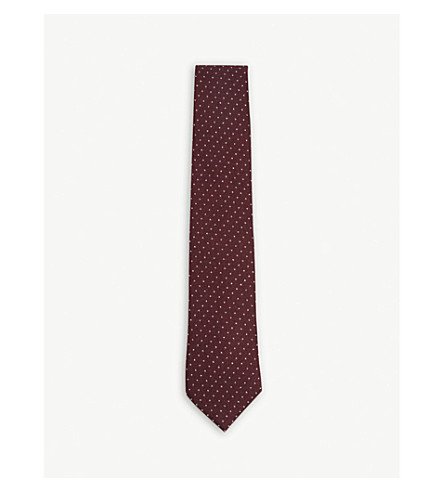 BIGI CRAVATTE Pindot wool tie (Burgundy