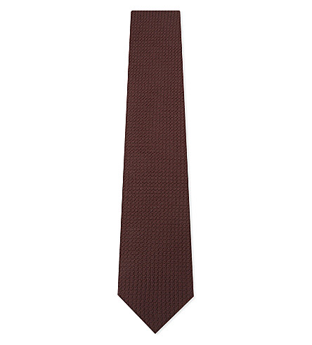 BIGI CRAVATTE Grenadine silk tie (Bordeaux