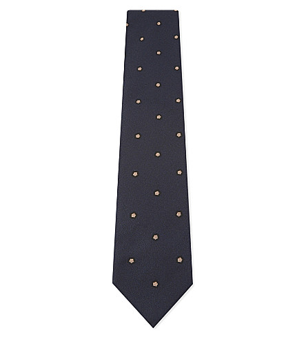 TIE YOUR TIE Pentagon silk tie (Dark+blue