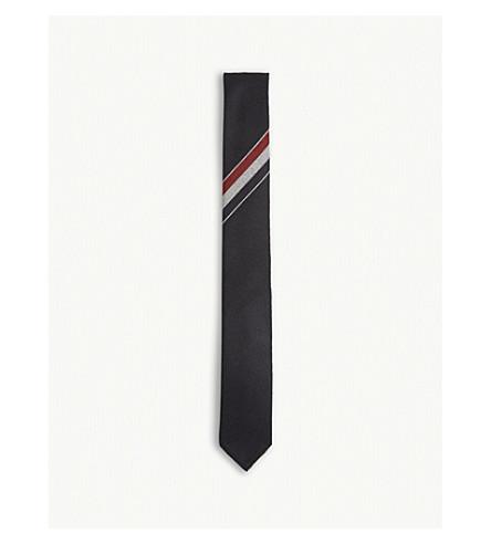 THOM BROWNE Tricolour stripe wool tie