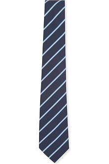 ATKINSONS Striped Irish poplin tie