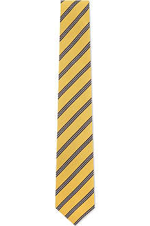 ATKINSONS Irish poplin striped silk tie