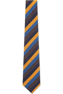 ATKINSONS Irish poplin striped tie