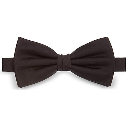 ATKINSONS Plain bow tie (Black
