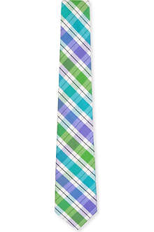 ATKINSONS Madras-checked silk tie