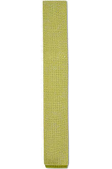 ATKINSONS Knitted silk flat end tie