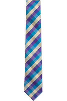 ATKINSONS Madras check silk tie