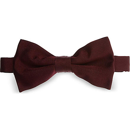 ATKINSONS Satin bow tie (Burgundy