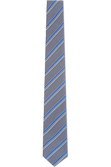 SIMON CARTER Multi-striped silk tie