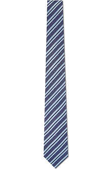 SIMON CARTER Simple striped silk tie